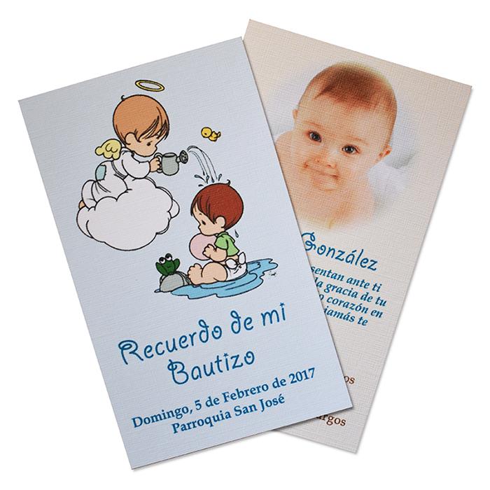 69727f42a Santitos Tarjeta de Recuerdo para Bautizo Primera Comunion ...