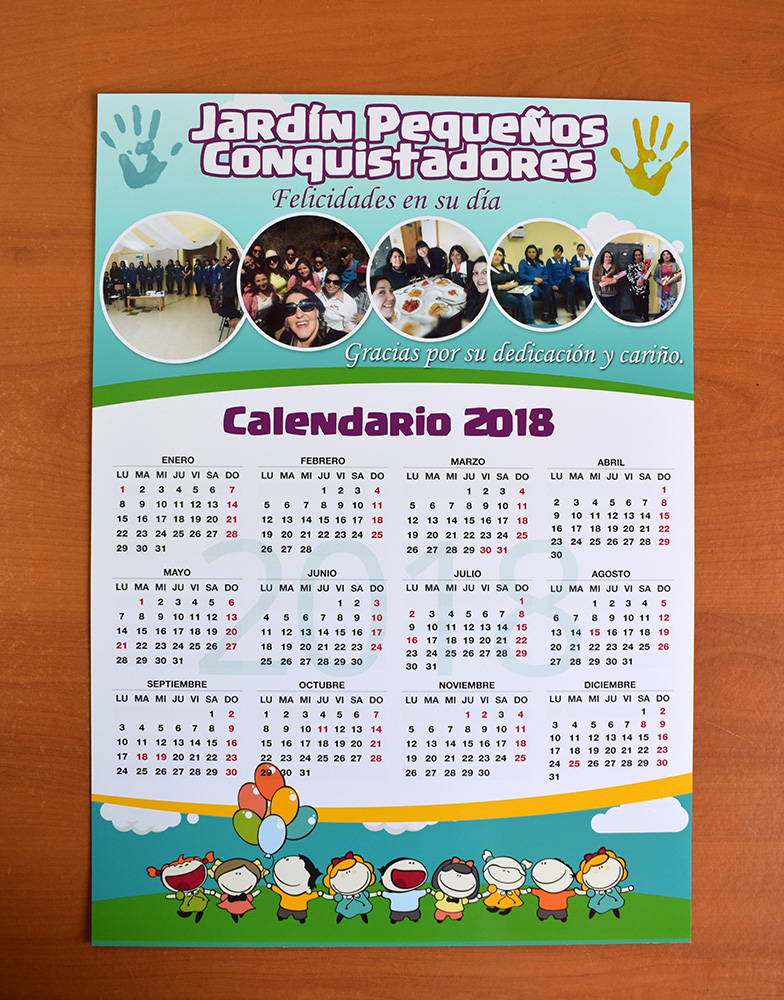 Calendarios de pared tipo poster 2018 dasperprint - Poster para pared ...