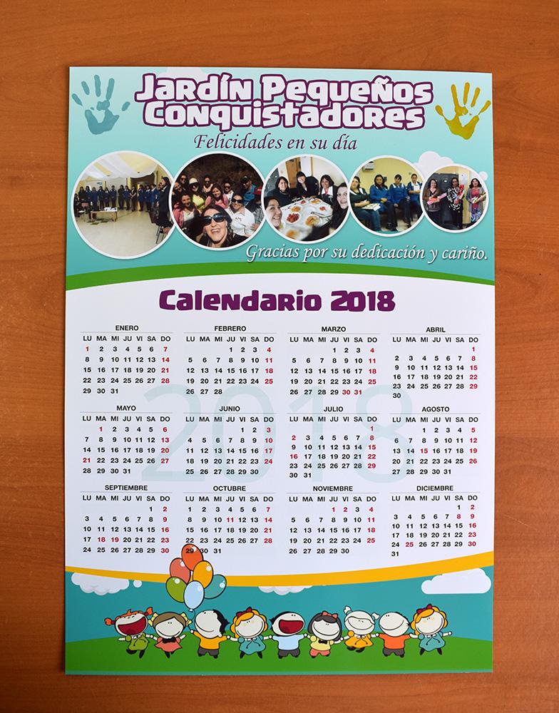 Calendarios de pared tipo poster 2018 dasperprint - Posters para pared ...